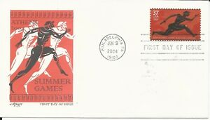 Summer Games In Athens, 37 Cent US Stamp ARTMASTER First Day of Issue 06-09-04