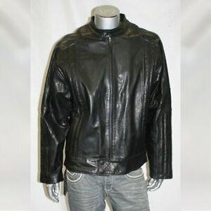 Men's Black Motorcycle Genuine Leather Jacket By Sean John