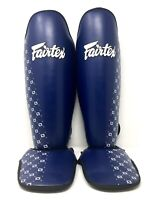 Fairtex Size Large SP5 Blue Competition Muay Thai Kickboxing Shin Guards