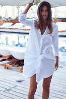 Summer Women's Jacquemus Cotton Dress  Replica Loose Shirt Dress White Party