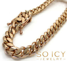"48.70 Grams 8.40mm 8.50"" Mens 14k Rose Real Gold Miami Cuban Bracelet"