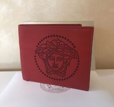 NWT Authentic VERSACE Red Leather MEDUSA Men's Wallet