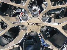 """2014-2017  GMC 3 1/4 3.25 Chrome Center Caps WITH BLACK GMC FOR 18"""" 20"""" 22"""""""