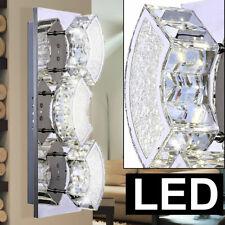 Elegante 8W LED Wand Leuchte Lampe Wohnzimmer Alu Chrom Acryl Nickel sparsam