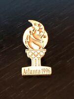 Collectible Vintage Atlanta 1996 Olympic Rings Flame Colorful Metal Pinback