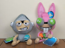 "Poptropica *2 LOT* Shark Boy & Dr Hare 8"" Plush Stuffed Dolls Doll **BRAND NEW**"