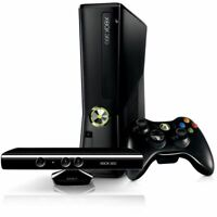 Microsoft Xbox 360 S Slim 4GB Console Bundle Kinect Controller Cords Ships Fast!