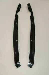 JAGUAR F-Type Front Bumper Outer Cover lips. Right + Left. Gloss black.