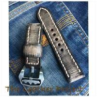 Handmade Vintage Rust Brown Leather Strap FREE PLAIN STEEL BUCKLE.