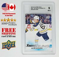 VICTOR OLOFSSON 2019-20 Upper Deck Series 1 Young Gung 207 Graded 9 ACA Rookie