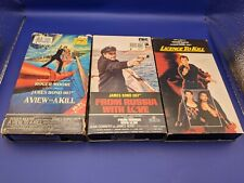 James Bond VHS Tapes Lot Of 3 View to Kill, From Russia w/ Love Licence to Kill