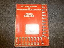 International Harvester Ih Model Td7C Pay Dozer Bulldozer Parts Catalog Manual