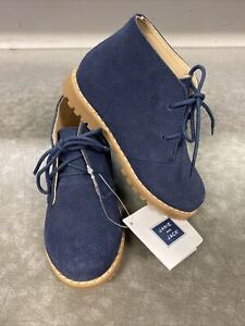 Janie And Jack Boys Blue Suede Ankle Dressy Boot Shoe 6 New W/Tags. Retail @$59