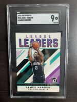 JAMES HARDEN 2019-2020 panini donruss LEAGUE LEADERS SGC 9 Mint Houston Rockets