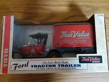 Ertl Ford 1918 Tractor Trailer True Value Hardware Die Cast Bank