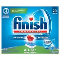 Finish All in 1 Powerball Fresh, 20ct, Dishwasher Detergent Tablets pack of 1