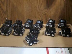 Lot of 12 black Greenlight International workstar cabs for custom build 1/64 dcp