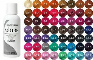 ADORE COLOR SEMI PERMANENT HAIR DYE 118ml - All Colours - !! Free UK Postage-!!