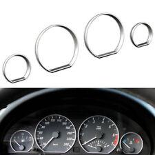 Chrome Gauge Dash Dial Rings Bezel Trim Speedometer Frame For BMW E46 1999-2006