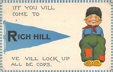 Rich Hill MO Ve Vill Lock Up De Cops~Take In (Silent) Moving Picture~Basketball