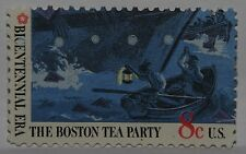 VINTAGE STAMPS AMERICAN AMERICA USA STATES 8 CENT BOSTON TEA PARTY STAMP X1 B11