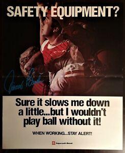 1970's JOHNNY BENCH Ingersoll Rand POSTER Cincinnati Reds RARE