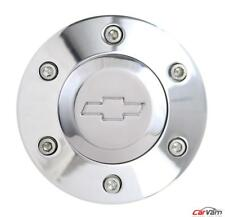 Forever Sharp Polished 6 Hole Horn Button With Chevrolet Engraving Hp6 Chevy