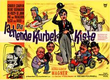 Die lachende Kurbel-Kiste ORIGINAL A1 Kinoplakat Charlie Chaplin / Heinz Rühmann