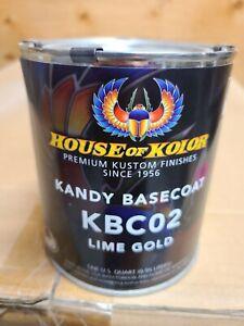 House of Kolors KBC02 Lime Gold Quart