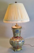 Large & Fine Antique FRENCH HAND-PAINTED Art Nouveau Vase as Lamp  c. 1900