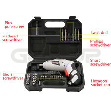 Cordless Drill Driver Kit Rechargeable Electric Screw Drill Repair Tools Set US