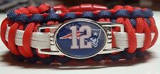 New England Patriots #12 Tom Brady Handmade King Cobra Paracord Bracelet