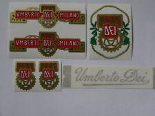serie adesivi UMBERTO DEI per bici vintage 6 pezzi