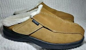 Ortho Feet Mens Slippers 10.5 2E Suede Slip on Brown Adjustable Arch Support