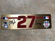 Mike Trout 2018 Locker Room GU NamePlate-Signed Inscribed -1/1 Trout Piece