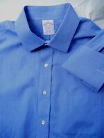 BROOKS BROTHERS  15.5 x 34 BLUE spread collar DRESS SHIRT French cuff