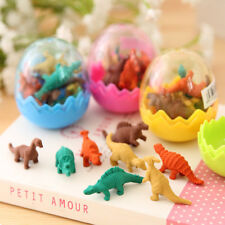 8Pcs Funny Dinosaur Egg Rubber Eraser Stationery Gift Students Office Supplies