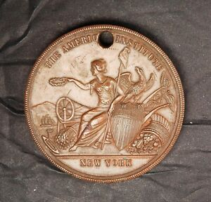 1884 American Institute - Bronze award Medal - NY-190 51mm