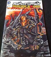 DC Comics HARLEY QUINN #1 Original Art Sketch DEATHSTROKE BATMAN TEEN TITANS GO!