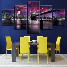 Brooklyn Bridge New York City 5 piece HD Art Poster Wall Home Decor Canvas Print