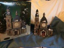 Heartland Valley Village Porcelain Church lighted house 1999
