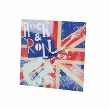 Horloge pendule murale en verre deco London ROCK - cadeau de noël