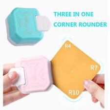 Corner Rounder Punch, 4mm 7mm 10mm 3 Way Corner Cutter for Paper Punch Craft