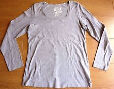 George Moda Ladies Long Sleeve Square Neck Top T shirt Size UK 16 EUR 44