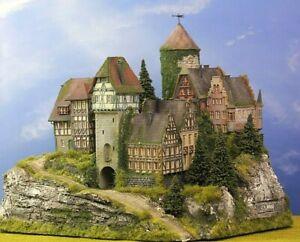 🙋♀️Diorama N/1:160** Burg Haarmann mit Bergmassiv Top #Modellbau aus Potsdam