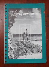 LEITZ LEICA VIEW FINDERS SALES BROCHURE 1954/126968