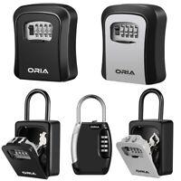 Wall Mounted/Padlock 4-Digit Combination Key Lock Storage Safe Security Box Home
