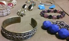 Estate find Vintage jewelry ring brooch pin necklace bracelet lot #416