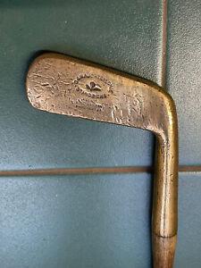 Hickory Golf Club Rare Robert Condie Brass Blade Putter DW Auchterlonie Stamp