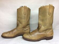 #12 MENS RED WING WORK LEATHER LIGHT BROWN BOOTS SIZE 7 D